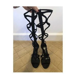 Tamara Mellon Knee High Black Heels size 38